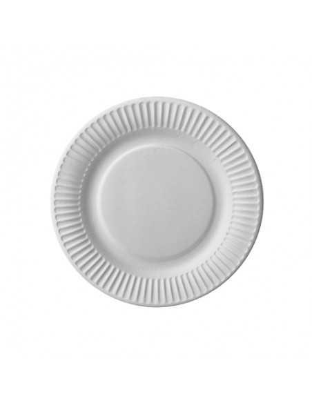 Platos de cartón blanco para postres Ø 18cm