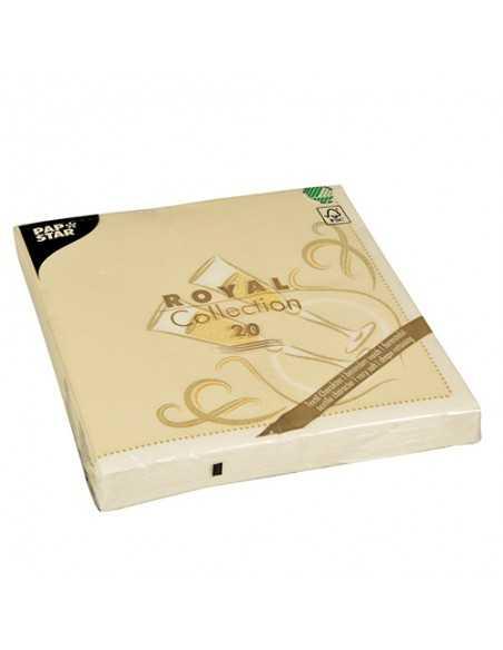 Servilletas papel decoradas color oro Royal Collection 40 x 40 cm
