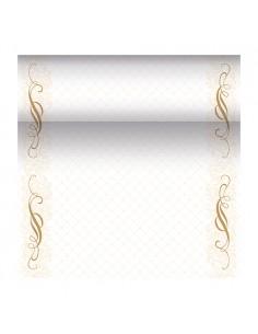 Camino de mesa decorado oro papel mix PV Royal Collection 24 m x 40 cm Megan