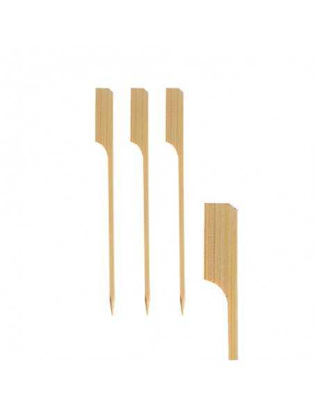 Brochetas de madera bambú de 12 cm modelo golf