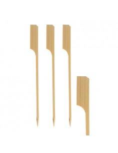 250 Brochetas Madera de Bambú de 18cm Modelo Golf