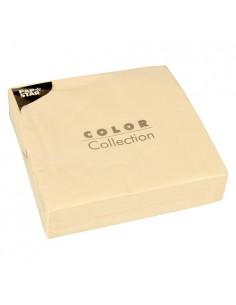 50 Servilletas 40 x 40 cm Papel Color Crema