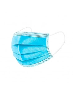 Mascarillas quirúrgicas de papel azul 3 capas de protección