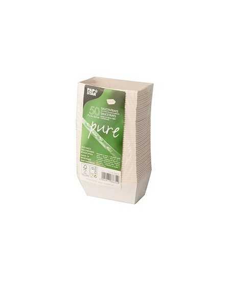 Bandejas para salsas cartón blanco 3,5 x 3 x 7cm Pure