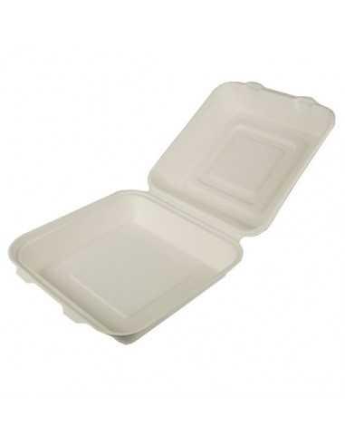 Envases Comida Caña de Azúcar Blanco 24,5 x 24,5cm Pure