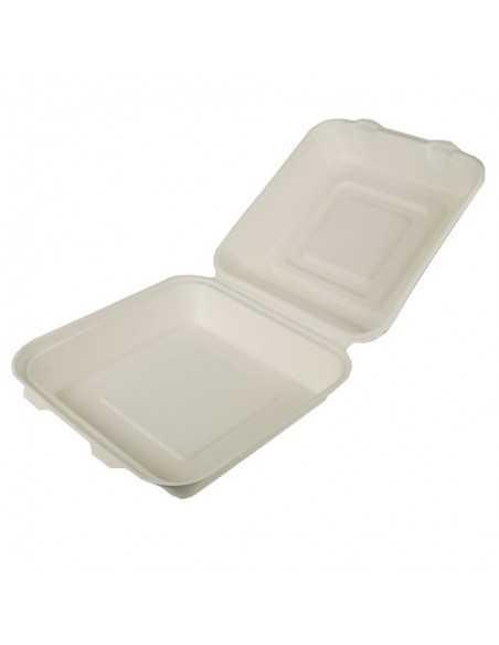 Envases comida compostables con tapa caña de azúcar 1200 ml
