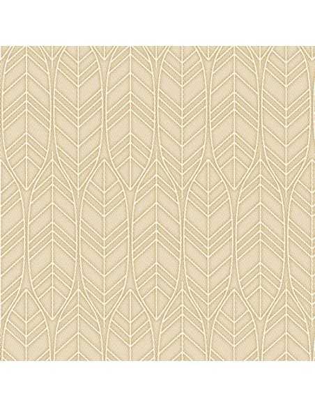 Servilletas de papel decoradas color arena Royal Collection 40 x 40 cm