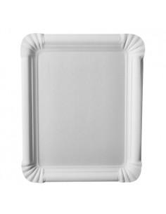 Plateaux carton couleur blanc rectangulaire 16,5 x 20 cm Pure