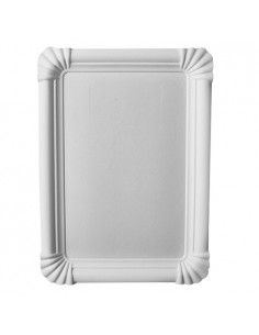 Bandejas 23 x 16,5 cm Cartón Fibra Fresca Blanco Pure