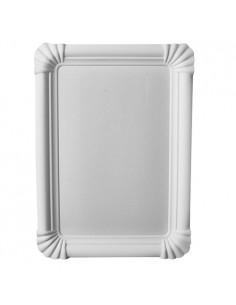 Bandejas de cartón blanco pastelería 16,5 x 23 cm Pure
