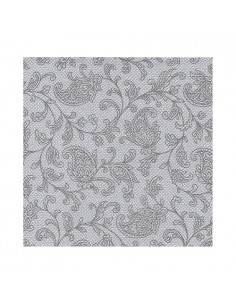 20 Servilletas 25 x 25 cm Decoradas Color Gris Royal Collection Ornaments