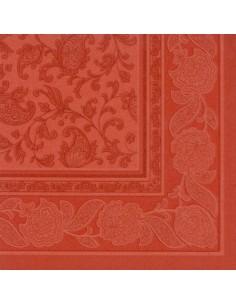 50 Servilletas 40 x 40 cm Decoradas Marrón Terracota Royal Collection Ornaments