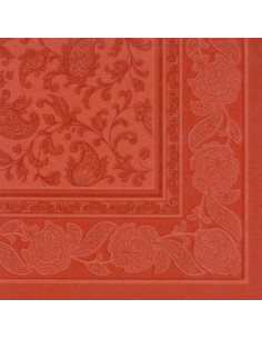 Servilletas papel decoradas Royal Collection color terracota 48 x 48 cm Ornaments