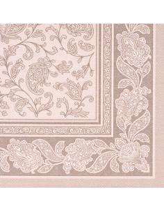 Servilletas papel decoradas Royal Collection mocca 40 x 40 cm Ornaments
