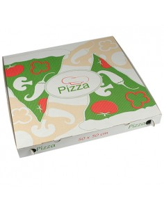 Cajas para pizza cartón decoradas grande 50 x 50 cm Pure