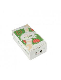 Cajas para pizza calzone cartón decoradas 30 x 16 x 10 cm Pure