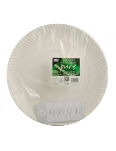 Bandejas tarta cartón blanco redondas Ø 32 cm Pure