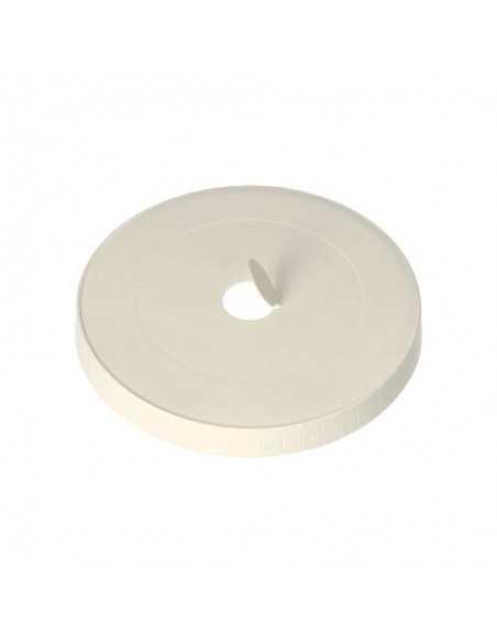 Tapas para vaso cartón blanco con agujero compostables Ø 9 cm Pure