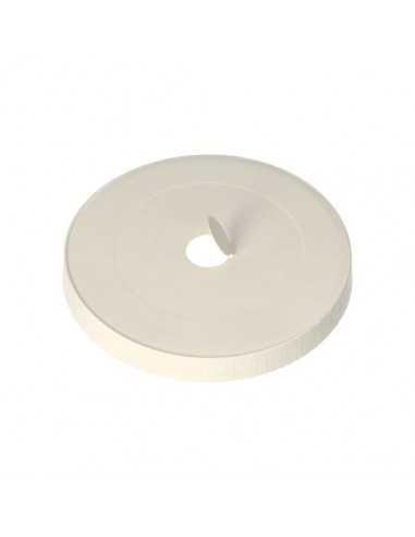 Tapas para vaso cartón blanco con agujero compostables Ø 8 cm Pure