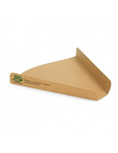 Cartons Pour Part de Pizza Carton Marron 17,1 x 18,3 x 2,5 cm Pure 100% Fair