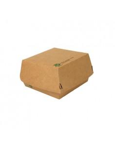 Cajas para Hamburguesas cartón marrón 12,5 x 12,5 cm Pure 100% Fair