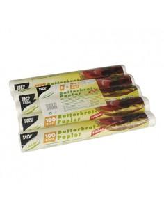 Hojas papel para envolver bocadillos antigrasa 25 x 30 cm blanco
