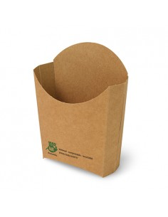 Envases para patatas fritas cartón marrón compostables 14 x 13,5 cm Pure 100% Fair
