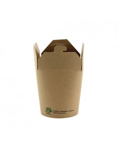 Envases comida para llevar cartón marrón 230 ml Pure 100% Fair