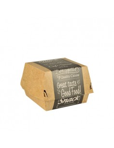 Caixas Para Hamburguer Grande Cartão Fibra Fresca Good Food 11,5 x 11,5 cm Pure