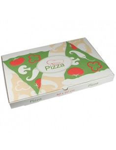 Cajas para pizza rectangular cartón decoradas 40 x 60 cm Pure