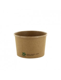 Tarrinas soperas cartón marrón compostables 230ml Pure 100% Fair