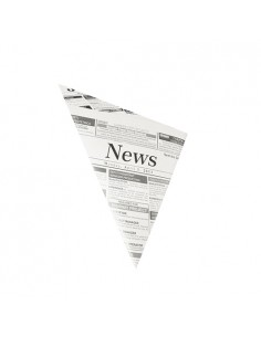 Conos papel patatas fritas papel prensa antigrasa 125gr Newsprint