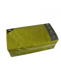 Servilletas de papel hostelería color verde oliva 33 x 33 cm