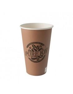 Vasos café para llevar cartón color marrón Pure Joy 400ml
