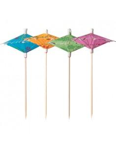 144 Palillos Decorativos Cóctel Colores Surtidos de 15 cm