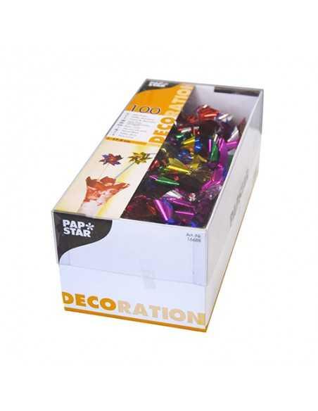 Palillos decorativos bebidas molinillos metalizados de colores 17,5cm