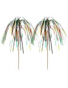 100 Palillos Decorativos Cocktail Multicolor 15,5 cm Fireworks Multicolor