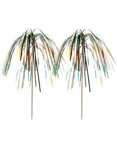 Palillos madera decoración bebidas colores surtidos 15,5cm Fireworks