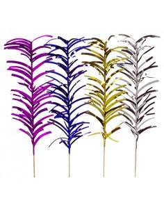 Palillos decorativos cóctel color surtido metalizado 20 cm