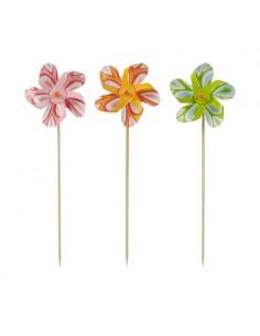 50 Palillos Decorativos Molinillos Surtido Colores 17,5cm