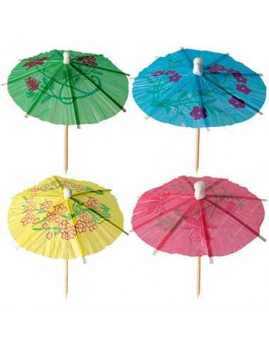 Palillos sombrillas para helado colores surtidos 10cm