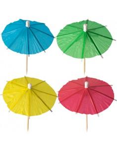 144 Palillos Sombrilla Para Helados Surtido Color 10 cm