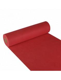 Camino de Mesa Aspecto Tela Tejido sin Tejer Color Rojo Soft Selection 24 m x 40 cm