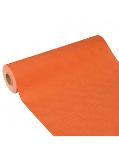Camino mesa papel aspecto tela color naranja Soft Selection Plus 24 m x 40 cm