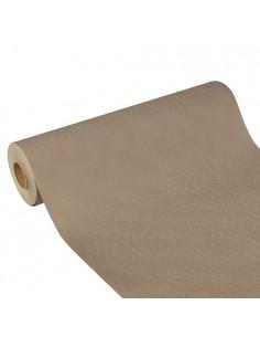 Camino de mesa papel aspecto tela impermeable color gris Soft Selection Plus 24 m x 40 cm