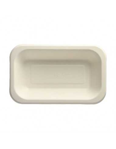 Bandejas caña azúcar termosellables Blanco 15 x 24 cm Pure