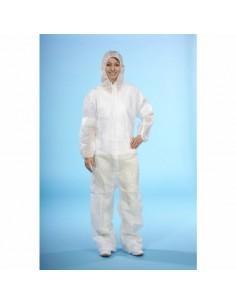 Buzo protector papel blanco tejido sin tejer sin recubrimiento talla XL