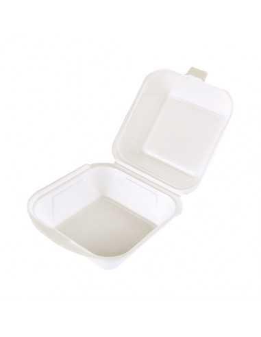 Cajas para hamburguesa económicas color blanco EPS 12 x 12 cm