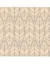 Servilletas papel reciclado decoradas 33 x 33 cm Natural