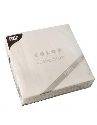 Servilletas papel económicas color blanco 38 x 38 cm microgofrado Punto